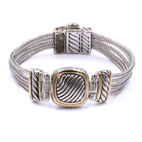2-Tones with Multi-Chain Cable Bracelets