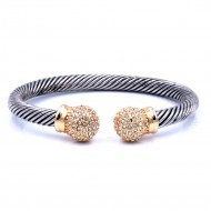 Two-Tone Plated with Cable Bracelets