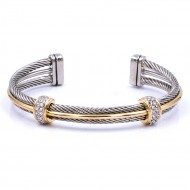 Two-tone Plated Cable Bracelets