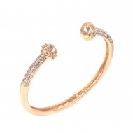 Gold Plated with Open Cuff Design Bangle Bracelet Jewelry For Women