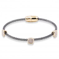 Two-Tone Plated Plated with Cable Bracelets