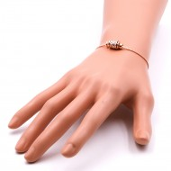 Rose Gold Plated with Cubic Zirconia CZ Lariat Bracelets