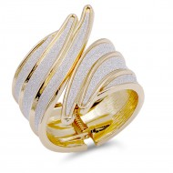 Gold Plated with Glitter Bangle Bracelets