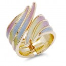 Gold Plated with Glitter Bangle Bracelets
