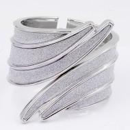 Rhodium Plated with Glitter Bangle Bracelets