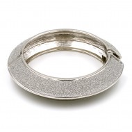 Rhodium Plated with Hinged Glitter Bracelets