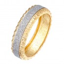 """Gold Plated with Glitter Round Hinged Bangle Bracelet Fashion Jewelry For Woman 7.5"""""""
