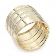Gold Plated with Hinged Glitter Bracelets