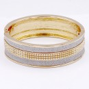 Gold Plated Glitter Hinged Bangle