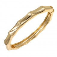Gold Plated Hinged Bangle Bracelets