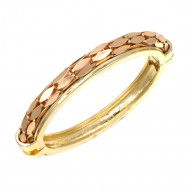 Rose Gold Plated Hinged Bangle Bracelets