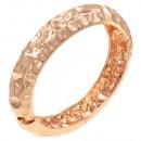 Rose Gold Plated Hinged Bangle Bracelets
