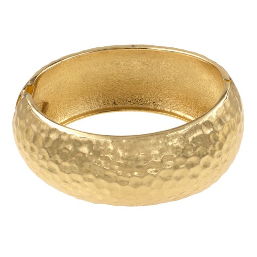 Gold Plated Hinged Bangles Bracelet