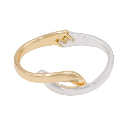 Rhodium & Gold Plated with Enamel Hinged Bangles