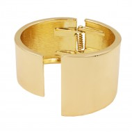 Gold Plated with Hinged Bangles Bracelet