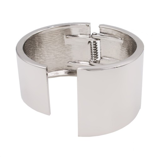 Rhodium Plated with Hinged Bangles Bracelet