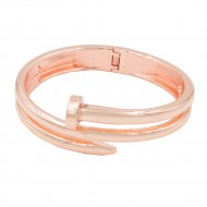 Rose Gold Plated with Hinged Bangles Bracelet