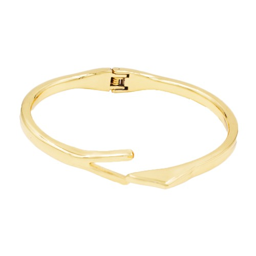 Gold Plated with Hinged Bangle Bracelet