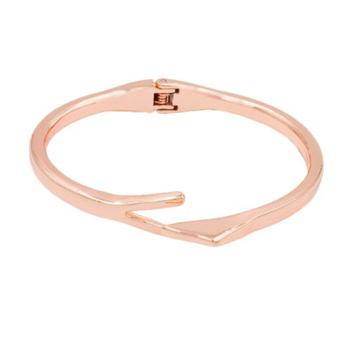 Rose Gold Plated with Hinged Bangle Bracelet