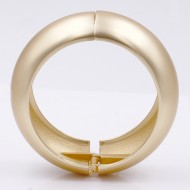 Matte Gold Plated Hinged Bangles
