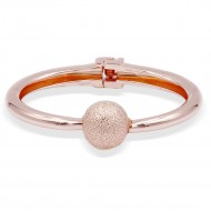 Rose Gold Plated Hinged Bangles