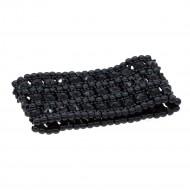 "Jet Black 3-Lines Crystal Fashion Trendy Stretch Bracelet 7"""