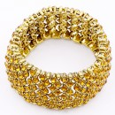 Anti Gold Plated With Topaz Crystal Stretch Bracelets Tennis Rhinestone Bridal Evening Party Jewelry for Woman Bangle