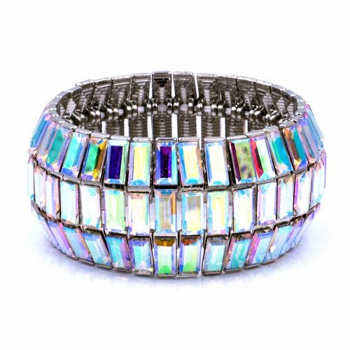 Rhoidum With AB Glass Stretch Bracelets