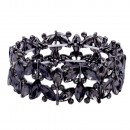 Rhodium Plated with AB Glass Stretch Bracelets