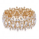 Rose Gold Plated With AB Crystal Stretch Bracelet