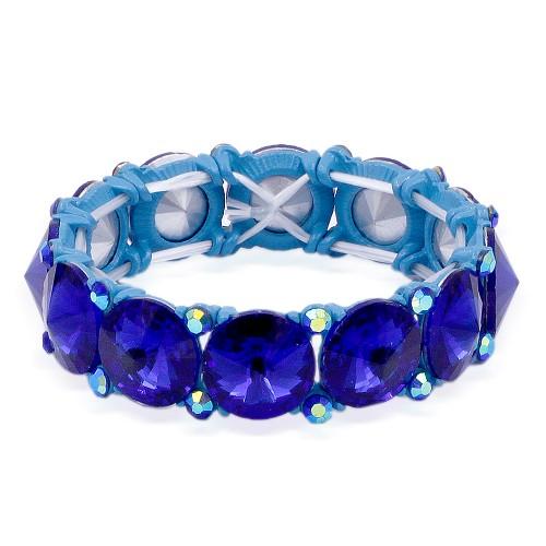 Blue AB Crystal Stretch Bracelet
