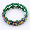 Green AB Crystal Stretch Bracelet