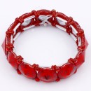 Red Color Crystal Stretch Bracelet