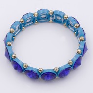 Blue AB Crystal Stretch Bracelet