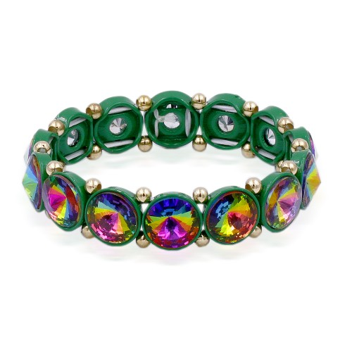 Green AB Color Crystal Stretch Bracelet