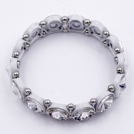 White Color with Crystal Stretch Bracelet