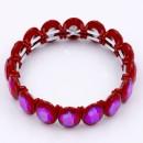 Red Color Crystal Stretch Bracelet