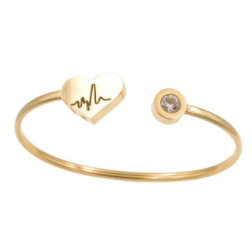 Stainless Steel With Gold Plated Cuff Bracelets