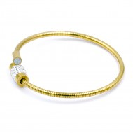 Stainless Steel With Gold Plated Bangle Bracelets