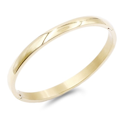 Gold Plated Stainless Steel Hinged Bangle Bracelets