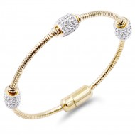 Gold Plated Stainless Steel Crystal Bracelet
