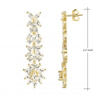 Gold plated with AAA Cubic Zirconia Dangle Earrings