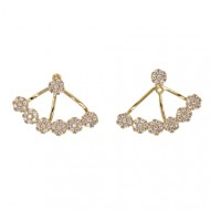 Gold Plated with Cubic Zirconia Earrings