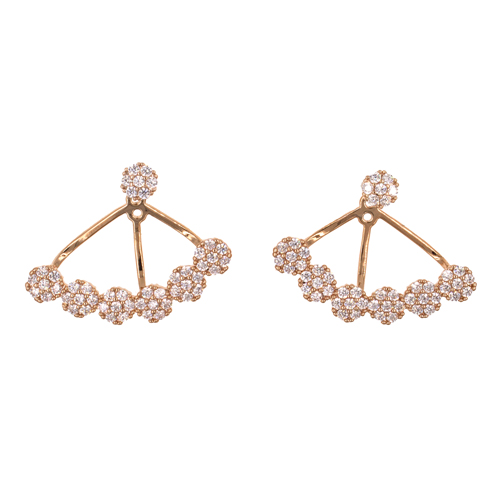 Rose Gold Plated with Cubic Zirconia Earrings