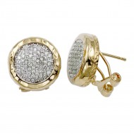2-Tones with Cubic Zirconia Earrings