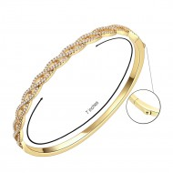 Gold Plated with Infinity Style CZ Cubic Zirconia Stone Bangle for Women and Girls