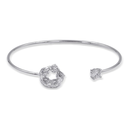 Rhodium Plated with Cuff Bracelets