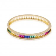 Gold Plated With Multi Color with CZ Bangle