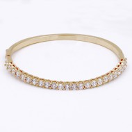 Gold Plated With Clear CZ Bangle