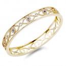 Gold Plated with CZ Evil Eye Pave Bracelet